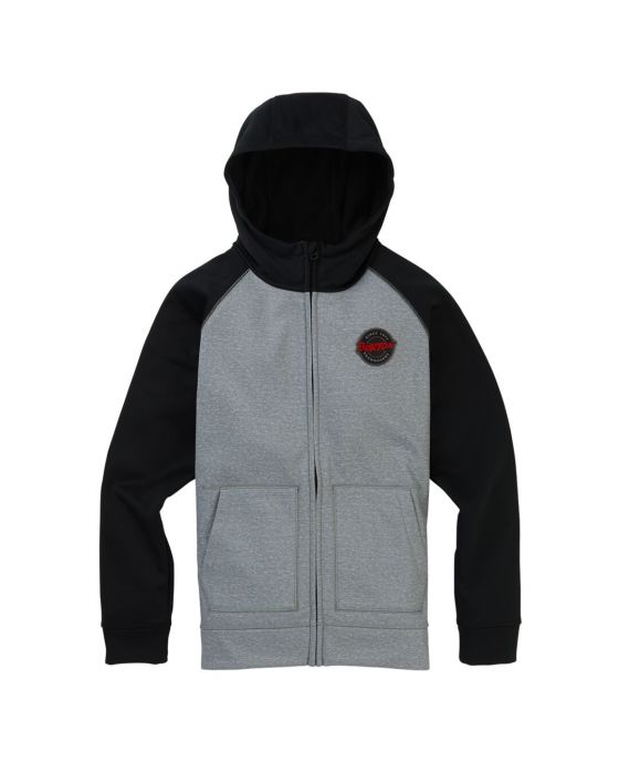 CROWN BONDED FULL-ZIP HOODIE JR